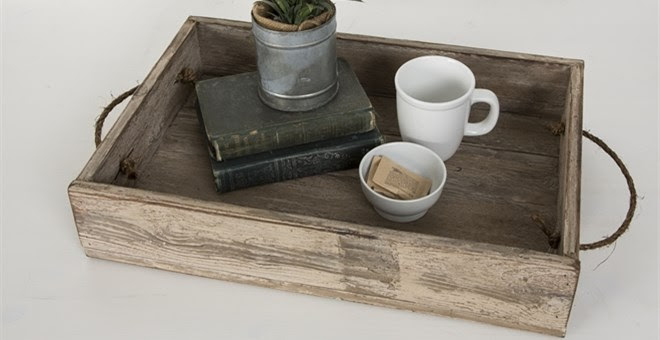 Reclaimed Wood Serving Tray +.