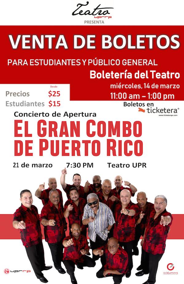 Venta de Boletos el miércoles en la Boletería del Teatro para el concierto de apertura