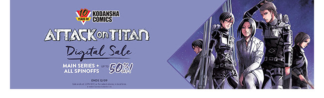 Kodansha Attack on Titan Sale: up to 50% off! | Ends 12/9