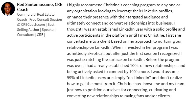leverage LinkedIn Recommendations