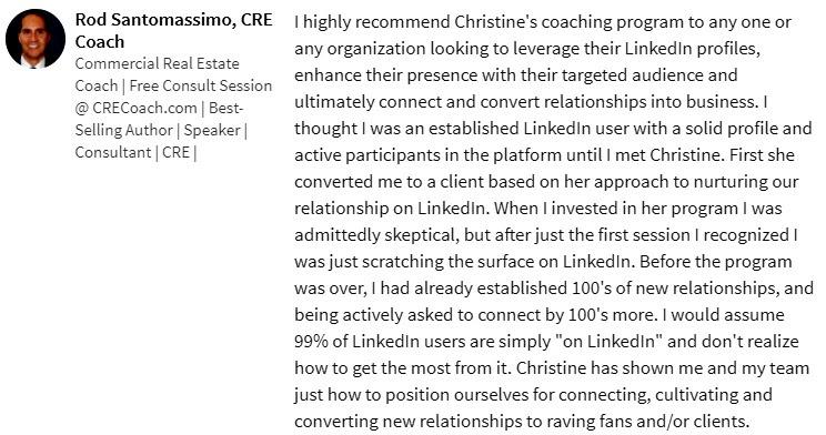 leverage LinkedIn Recommendations