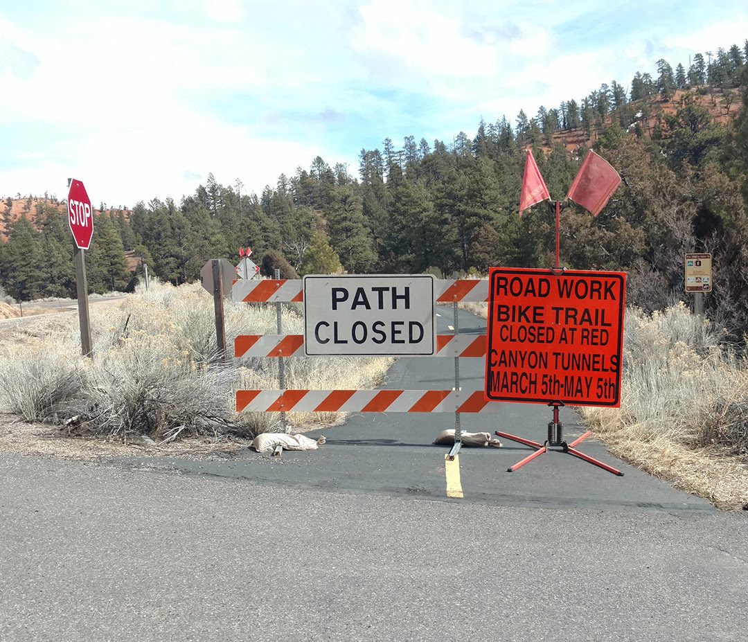 Bike Path Closed