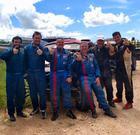 Equipe ao final da última etapa comemora os três pódios (FJS Fotos)