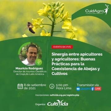 """CultiVida realizará webinar """"Sinergia entre apicultores y agricultores: Buenas prácticas para la coexistencia de abejas y cultivos"""""""