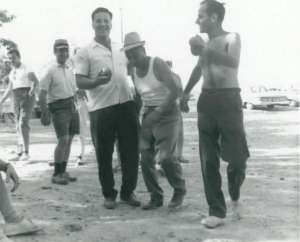 Members of Le Mistral Petanque Club, probably sometime in the late 1960s