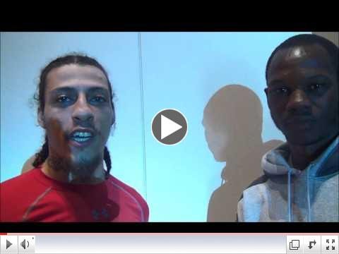 Christopher Brooker and Antowyan Aikens talk about their May 6 showdown