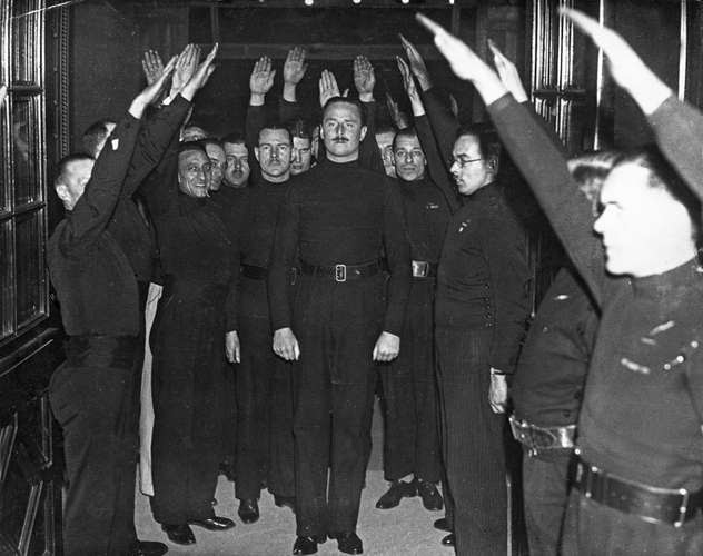Oswald Mosley fascists Bristol Eng 1934