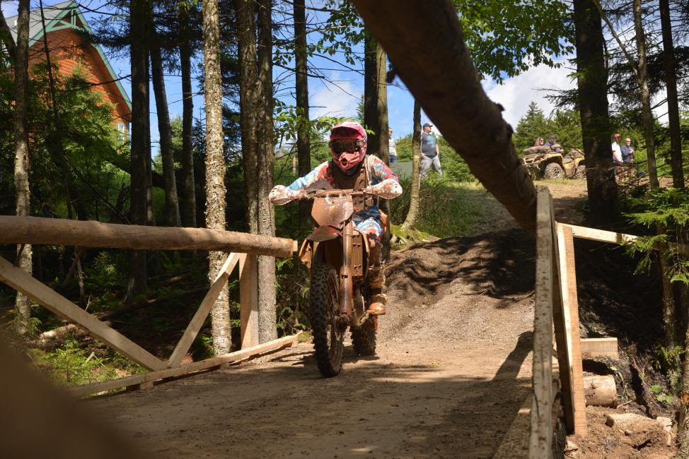 Becca Sheets finished a solid second place at the AMSOIL Snowshoe GNCC.