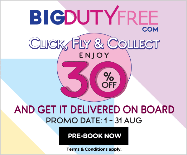 BIG Duty Free - Click, Fly & Collect! Enjoy 30% OFF and get it delivered on board