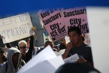 A protest in San Francisco last October against proposed changes in the sanctuary city policy.