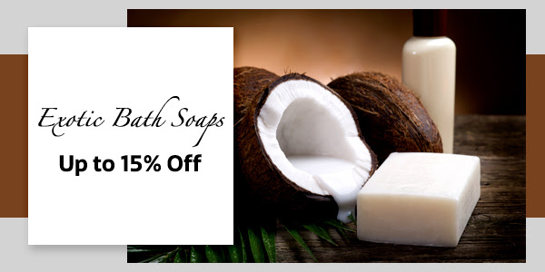 Exotic Bath Soaps up to 15% Off