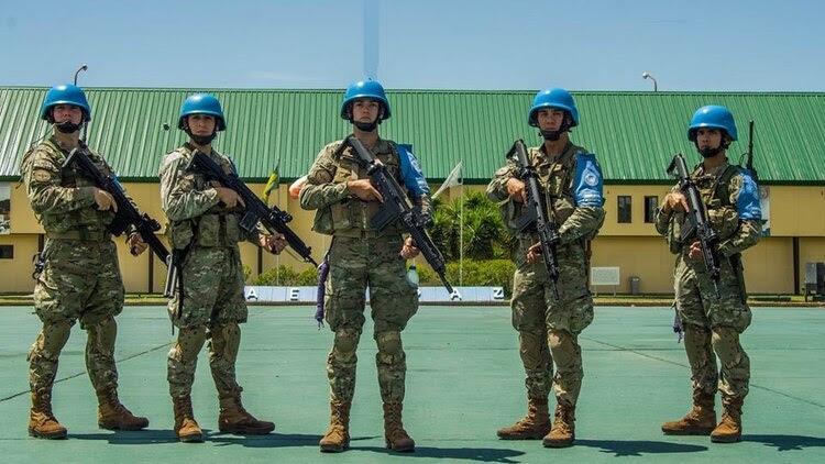 La postal de una campaña de los Cascos Azules en Acción al servicio de la paz