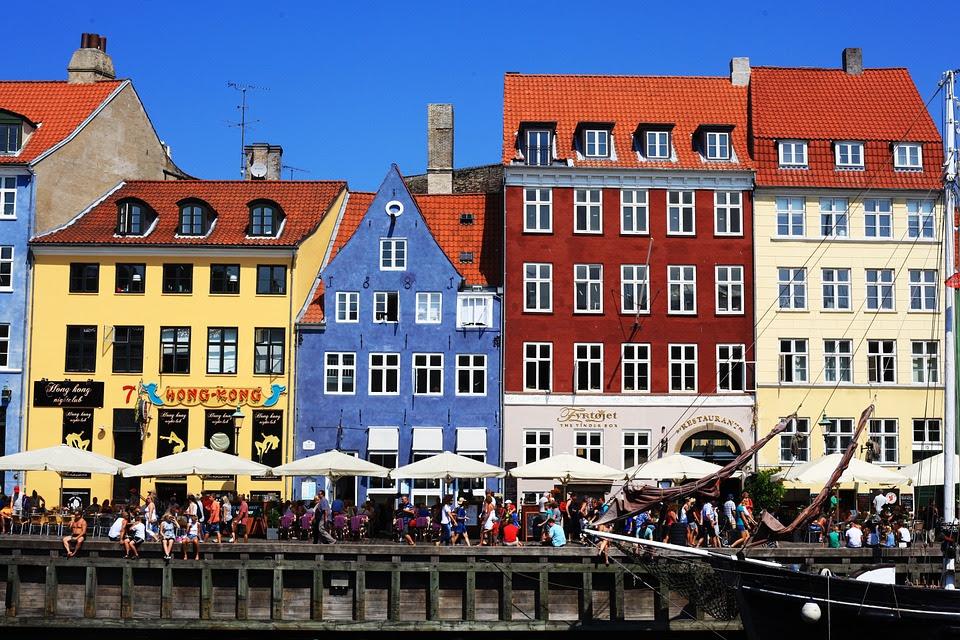 Copenhague, Kobenhavn, Paisagem, Casas, Cores, Capital