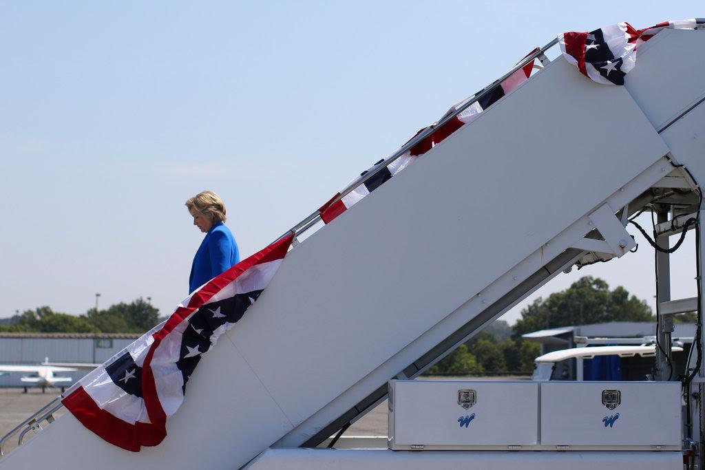 Hillary Clinton arriving in Charlotte, N.C., last week.