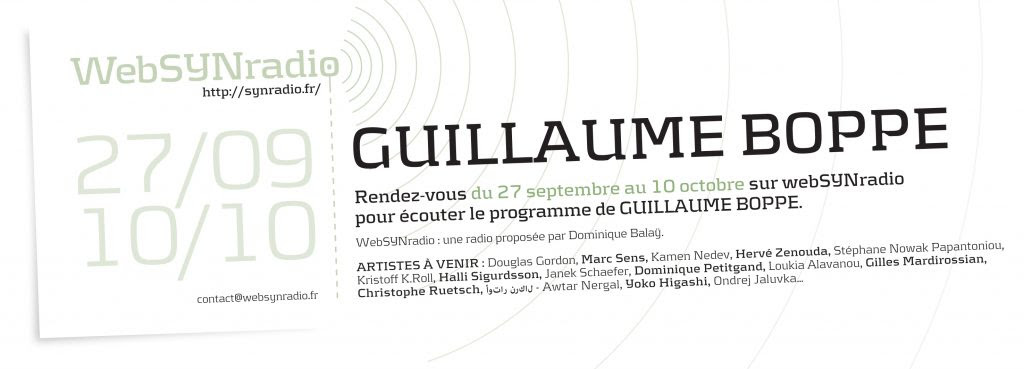 GUILLAUME BOPPE websynradio