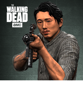 "THE WALKING DEAD DELUXE 10"" GLENN FIGURE"