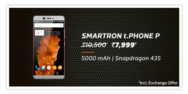Samrtron t.Phone P at Rs.7,999