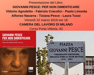 """Presentazione Libro """"Giovanni Pesce, per non dimenticare"""" Mimesis Edizioni"""