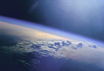 A                                                           photograph of                                                           clouds and                                                           sunlight over                                                           the Indian                                                           Ocean
