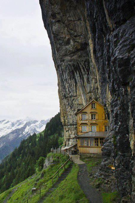 Ну спрятана в Альпах. -