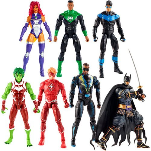 Image of DC Multiverse Wave 11 (Collect 'n Connect Ninja Batman) - Complete Set of 6