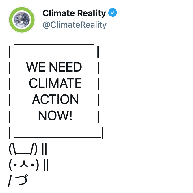 Climate action tweet