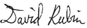 David Rubin signature
