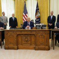 Trump strikes historic international peace deal