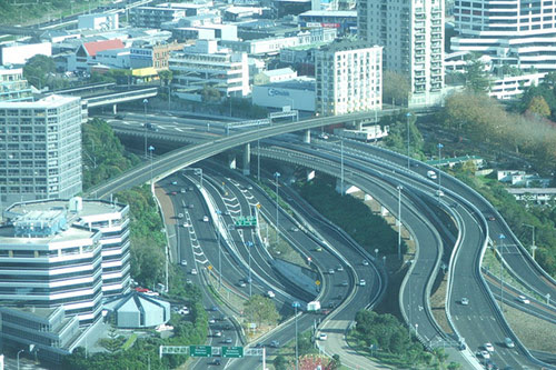 CentralMotorwayJunctionNewZealand in Awesome Pictures of Crazy Intersections and Interchanges