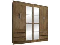 Guarda-roupa Casal com Espelho 6 Portas