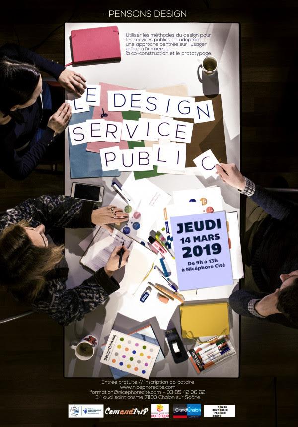 Affiche pensons design service public