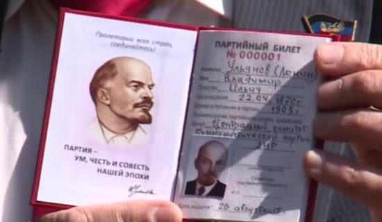 Donetsk : L'adhérent n°1 du Parti Communiste sera symboliquement Lénine