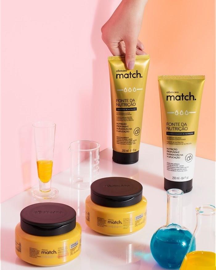 Match Fonte de Nutrição é enriquecido com ácido hialurônico e blend de nove óleos