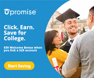 Upromise® $30 Welcome Bonus when linked to 529 account - Click. Earn. Save for College. [439243]