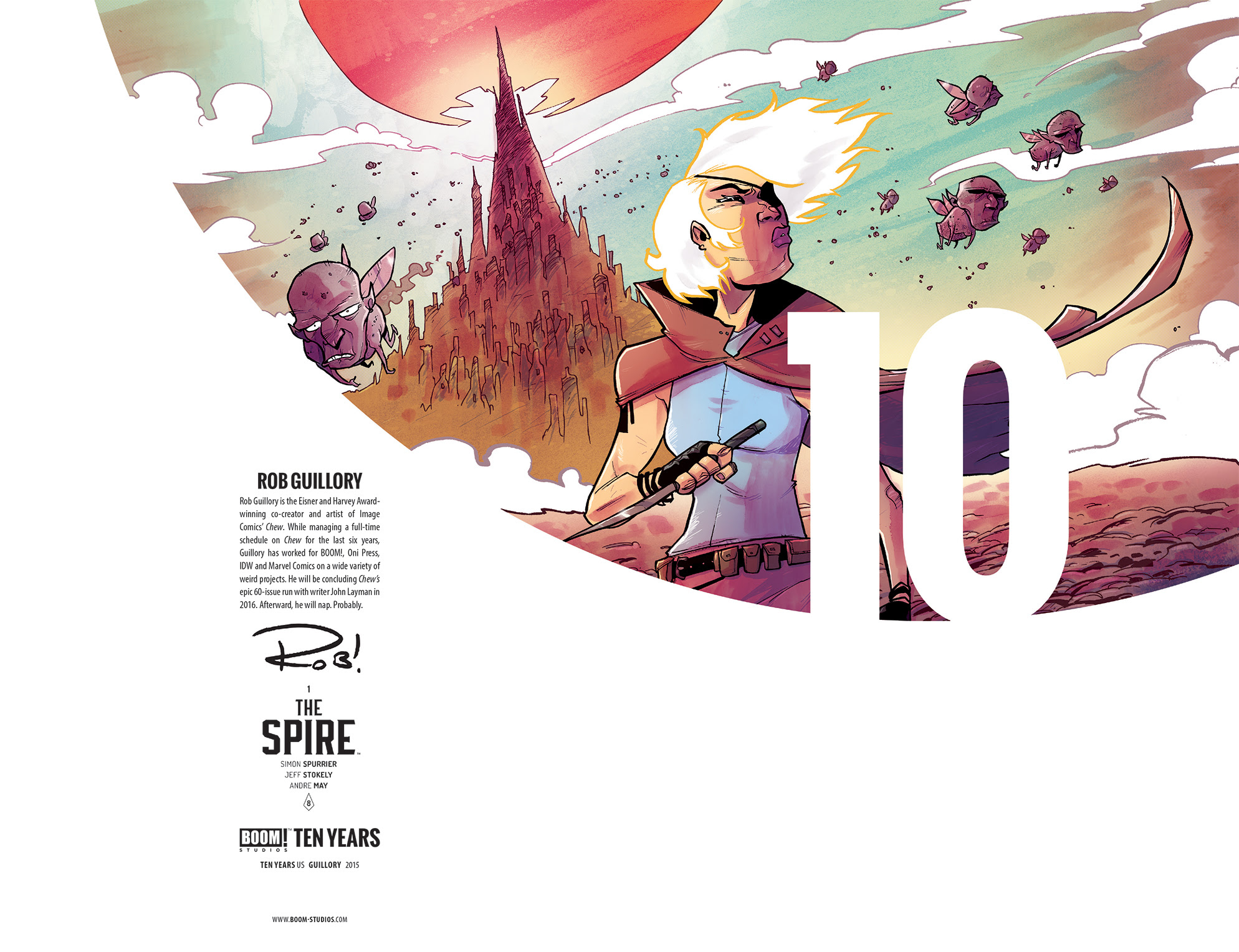 The Spire #1 10 Years Cover by Rob Guillory (full wraparound image shown)