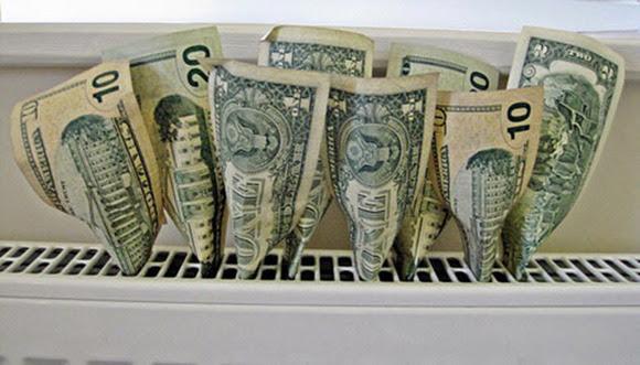 dollars on heat vent