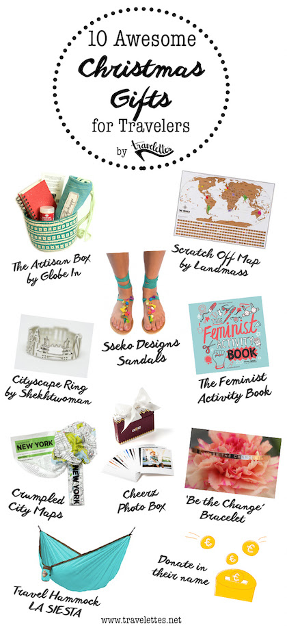 Travelettes Christmas Gift Guide 2016 Pin