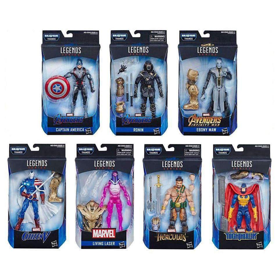 Image of Avengers: Endgame Marvel Legends (Thanos BAF) - Complete Set of 7