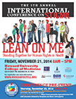 'Lean on Me' conference poster