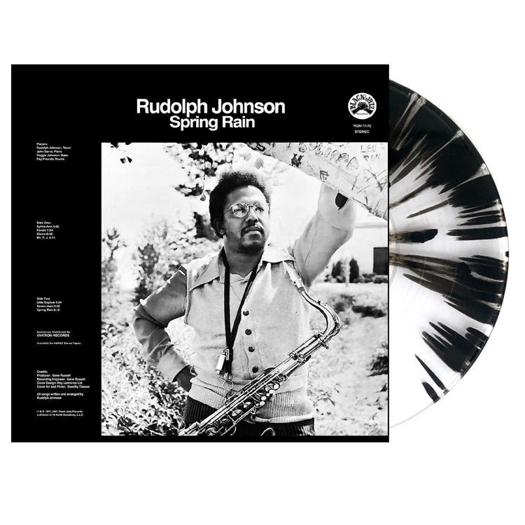 Rudolph Johnson Spring Rain Clear and Black Vinyl LP Packshot