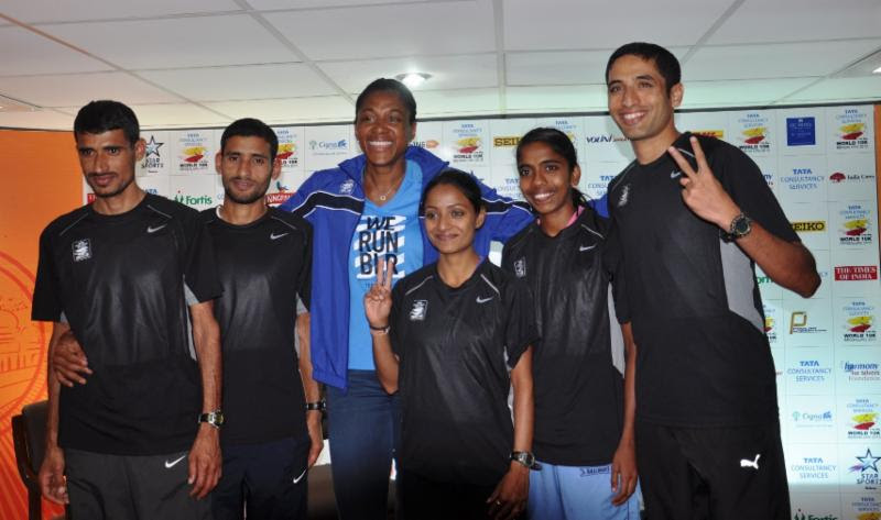 Three Time Olympic Gold Medallist Marie Jose Perec and Elite Indian Athletes lead the way for TCS World 10K Bengaluru