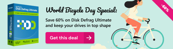 Auslogics Disk Defrag Ultimate Discount Coupon World Bicycle Day