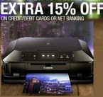 Extra 15% off on printers