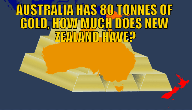 Australia Has 80 Tonnes of Gold, How Much Gold Does New Zealand Have?