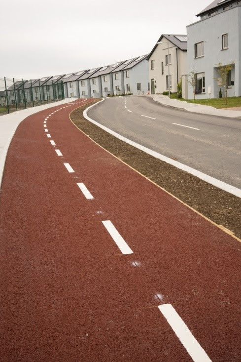 new cycle path in Ballygossan, Skerries