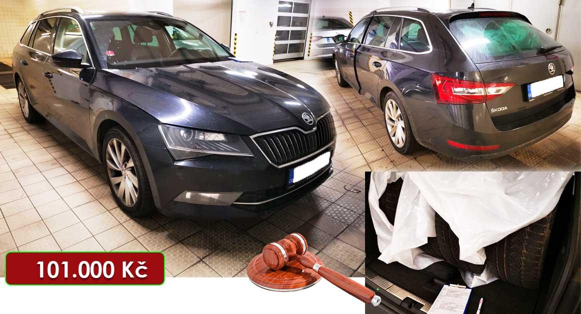 Do 23.7.2020 Aukce automobilu Škoda Superb Combi 2,0 TDI. Vyvolávací cena 101.000 Kč, ➡️ ID732389