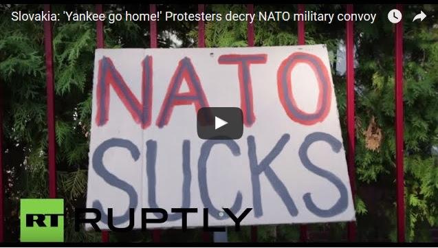 Slovakia: 'Yankee go home!' Protesters decry NATO military convoy