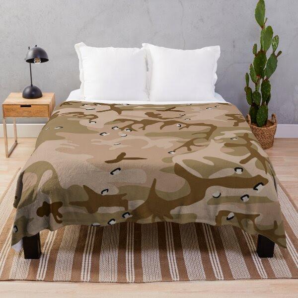 Desert Gulf Brown Camouflage Abstract Pattern, RBSSG