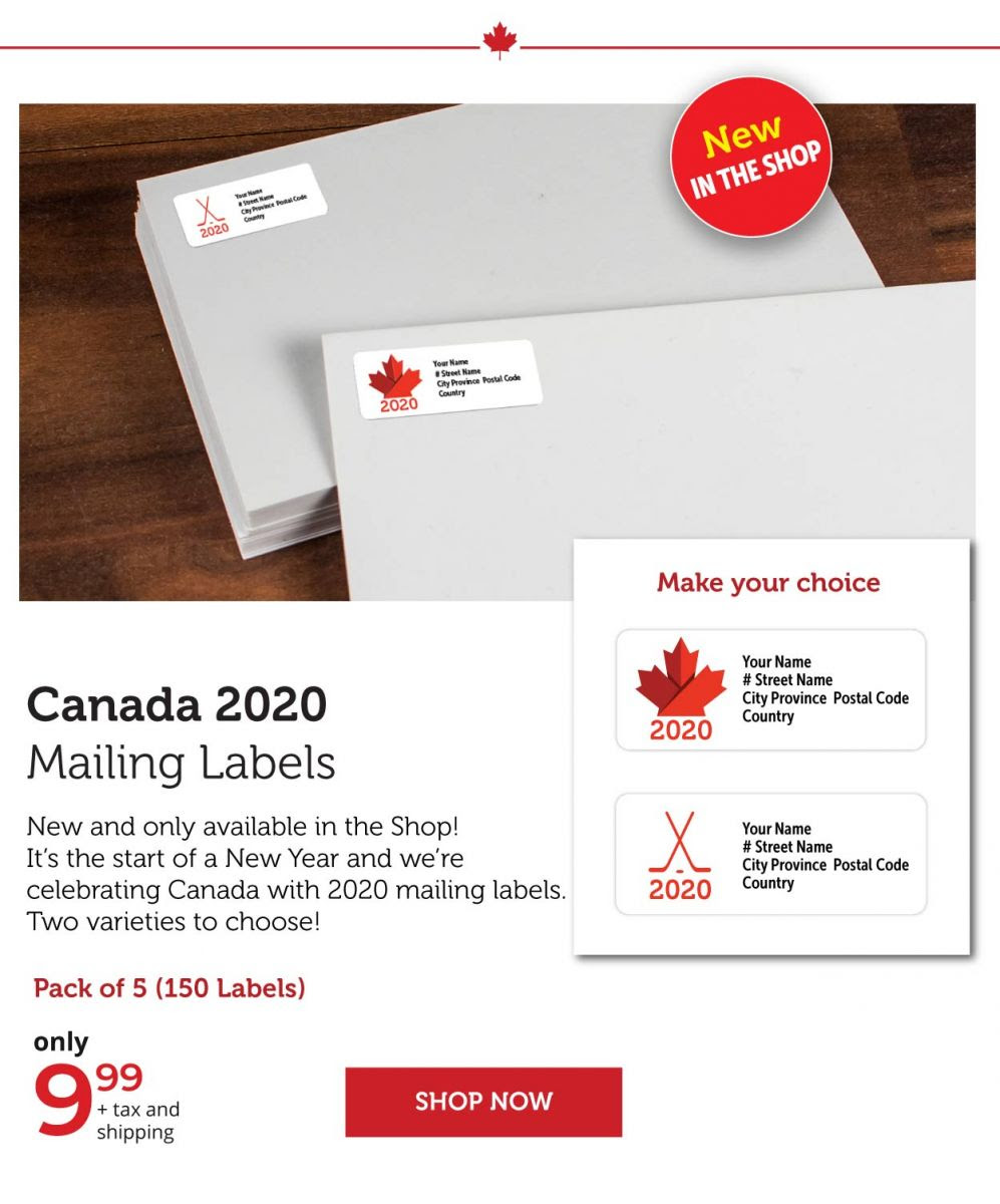 Canada 2020 Mailing Labels
