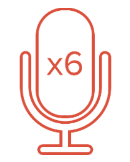six microphones